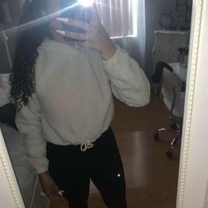 Fuzzy off white sweater